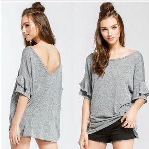 Tops - Ruffle Short Sleeve Top